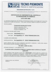 TREVISANELLO SRL Cert_3081-1